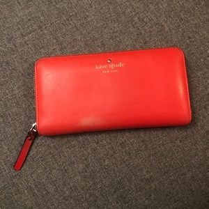 Orange Kate Spade Wallet